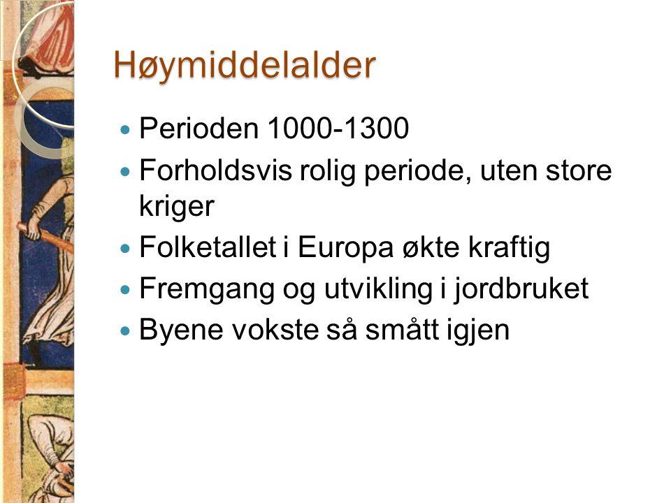 Høymiddelalder Perioden 1000-1300