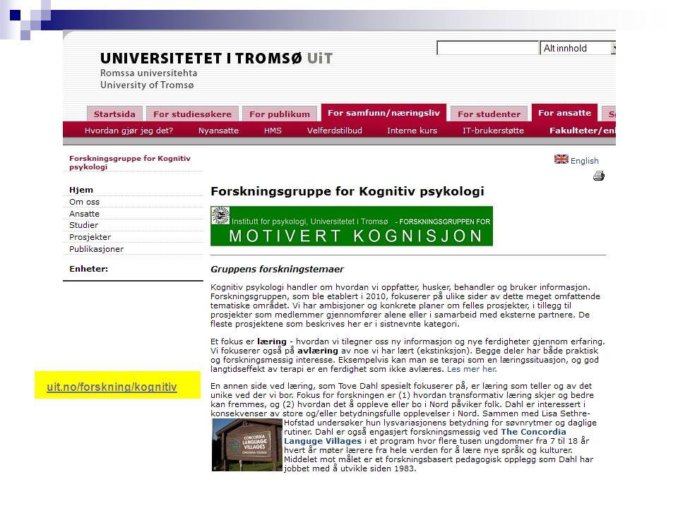 uit.no/forskning/kognitiv