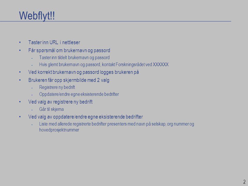 Webflyt!! Taster inn URL i nettleser