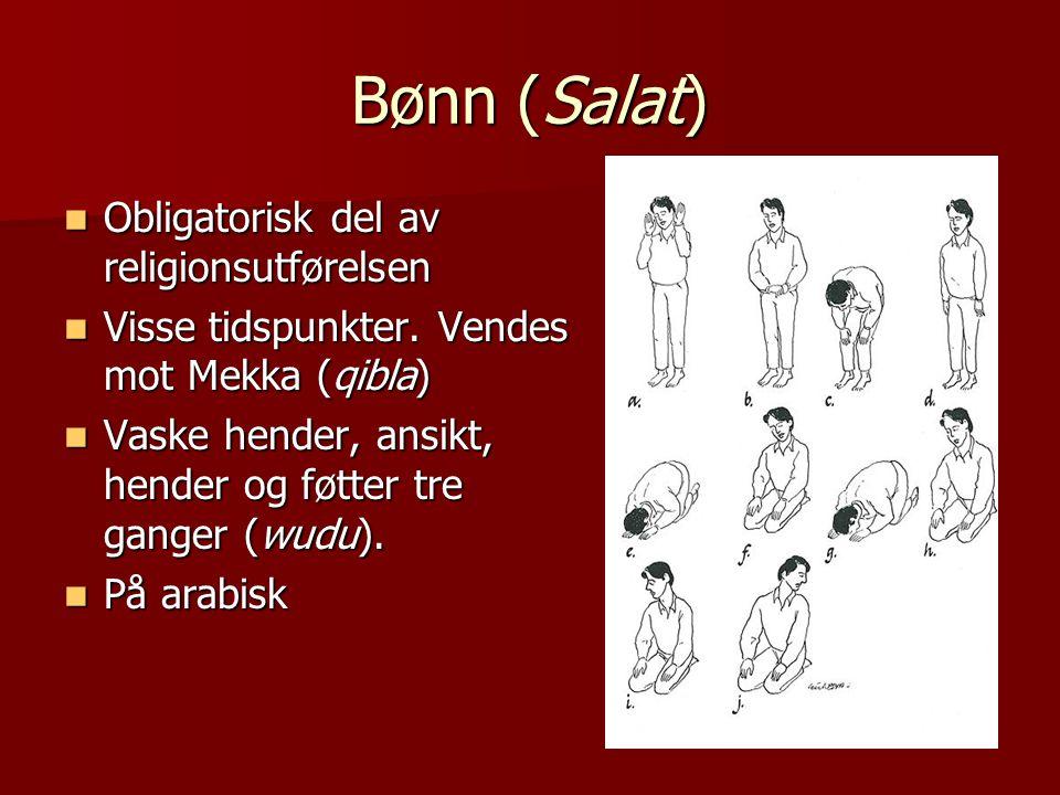 Bønn (Salat) Obligatorisk del av religionsutførelsen