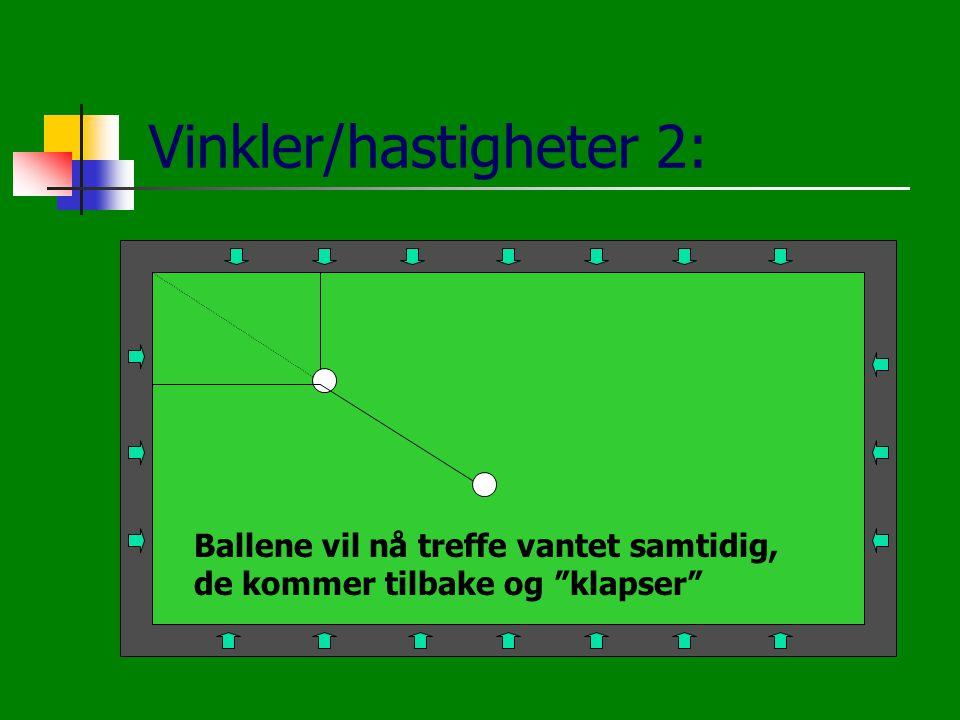 Vinkler/hastigheter 2: