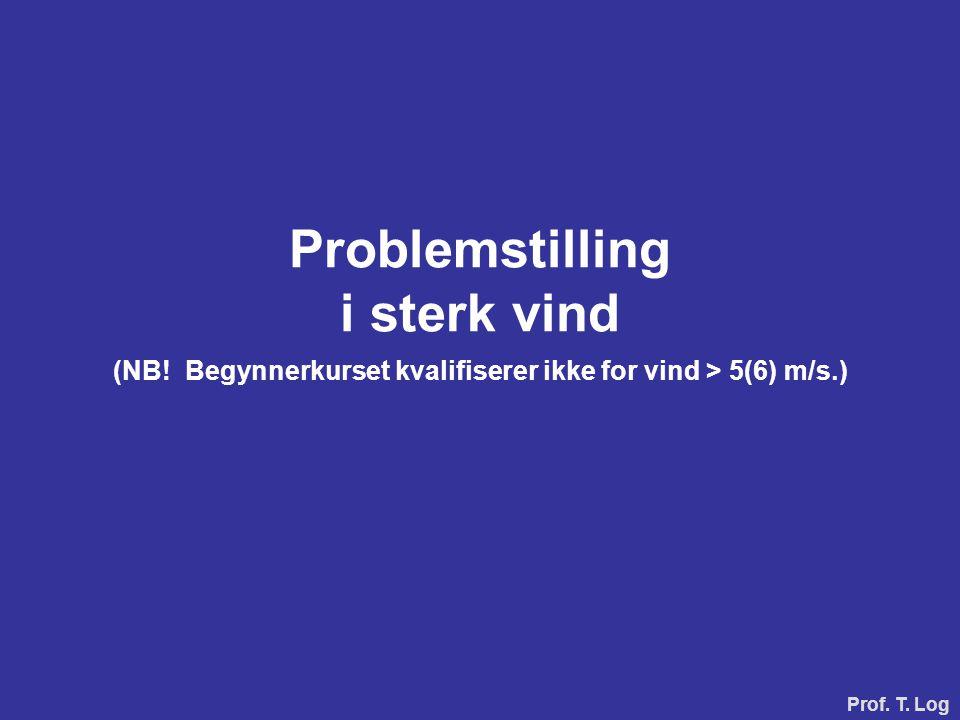 Problemstilling i sterk vind (NB