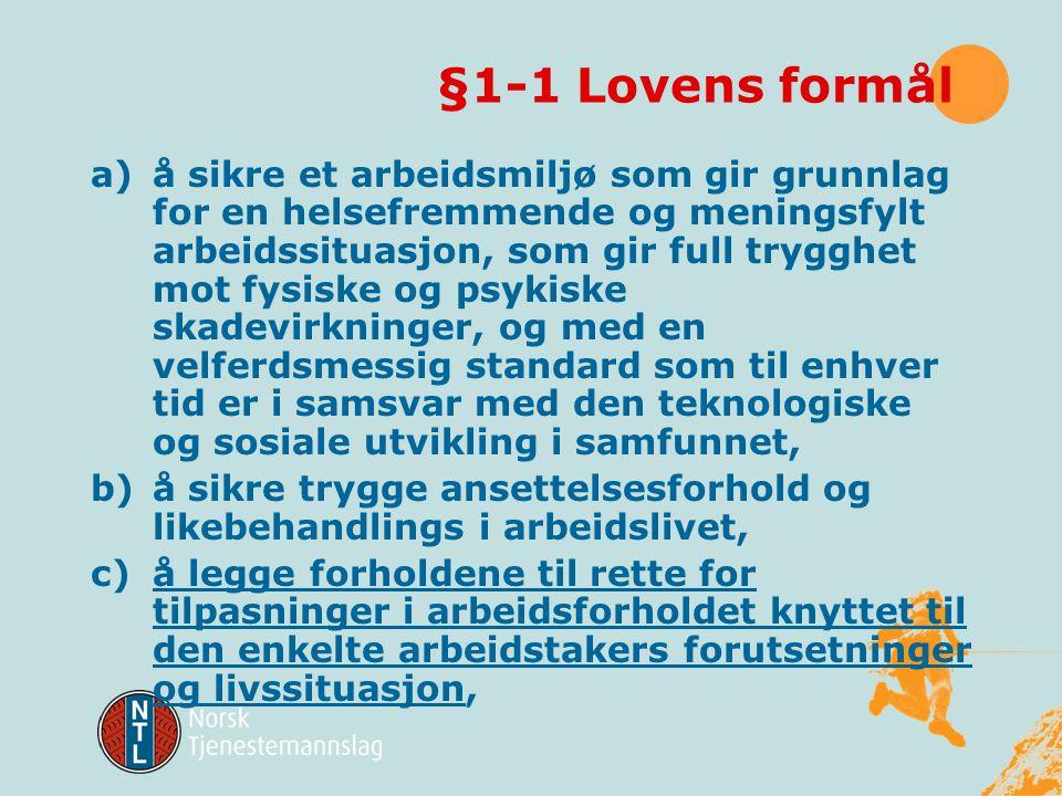 §1-1 Lovens formål