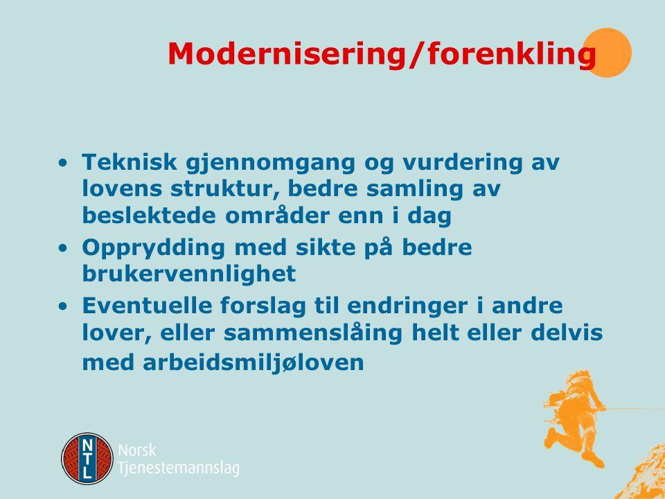 Modernisering/forenkling