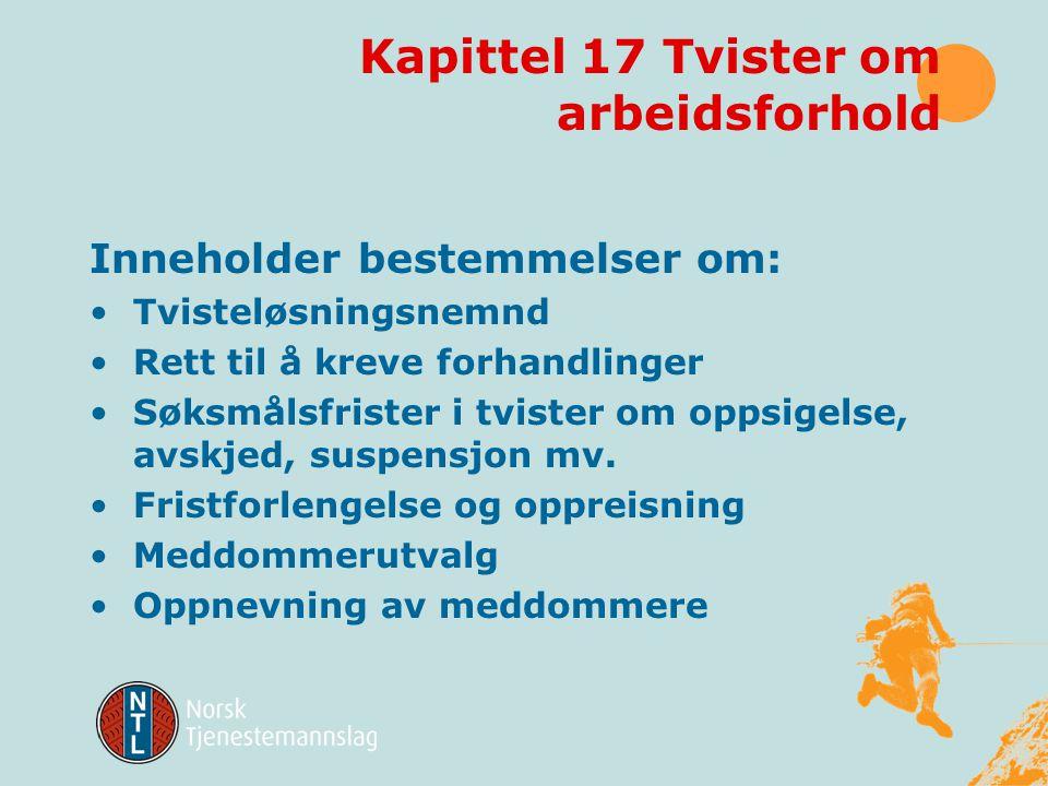 Kapittel 17 Tvister om arbeidsforhold