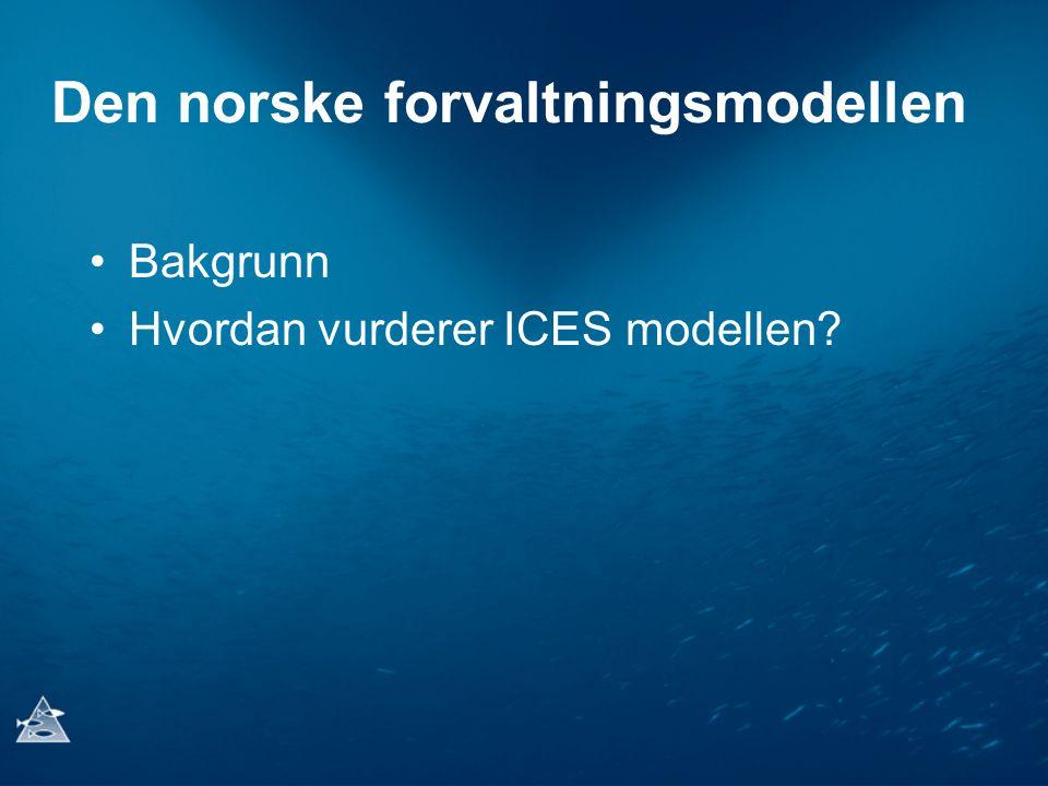 Den norske forvaltningsmodellen