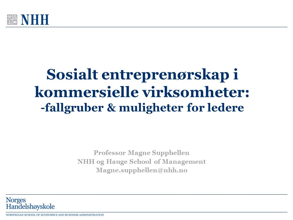 Professor Magne Supphellen NHH og Hauge School of Management