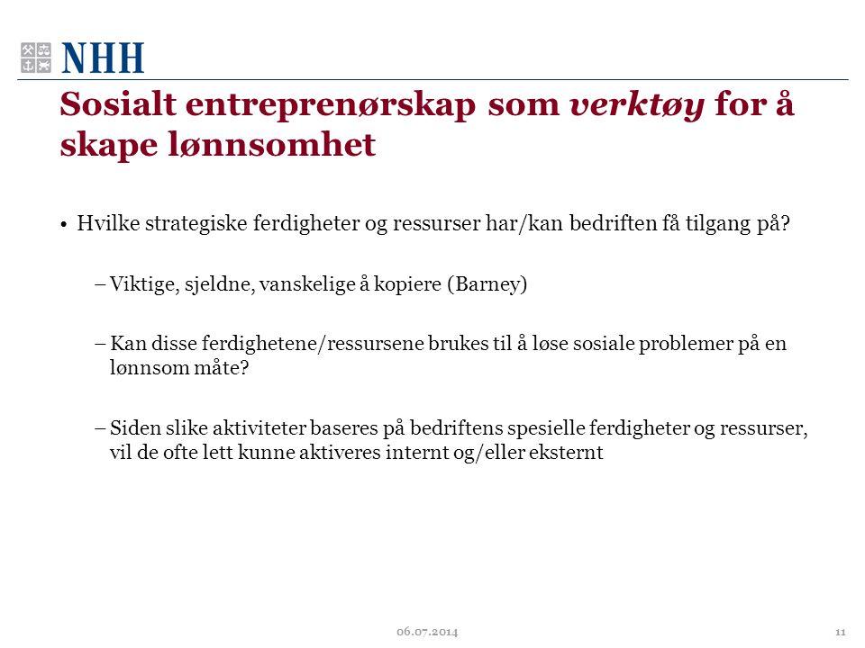 Sosialt entreprenørskap som verktøy for å skape lønnsomhet