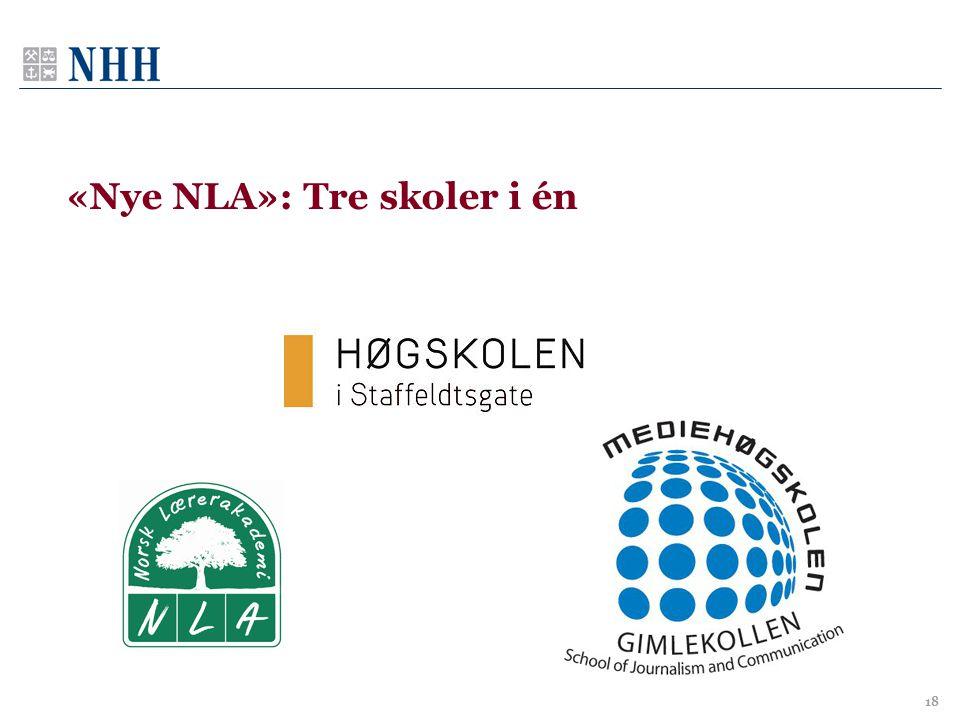 «Nye NLA»: Tre skoler i én