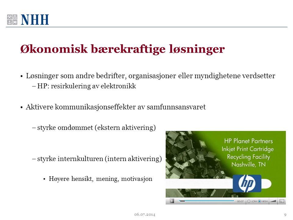 Økonomisk bærekraftige løsninger