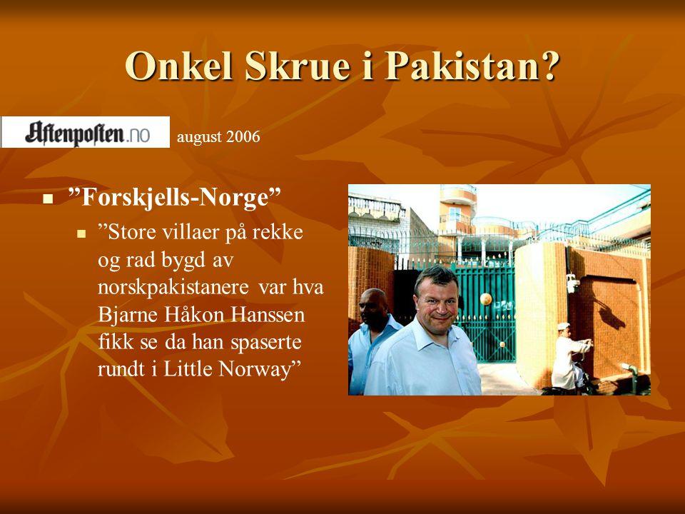 Onkel Skrue i Pakistan Forskjells-Norge