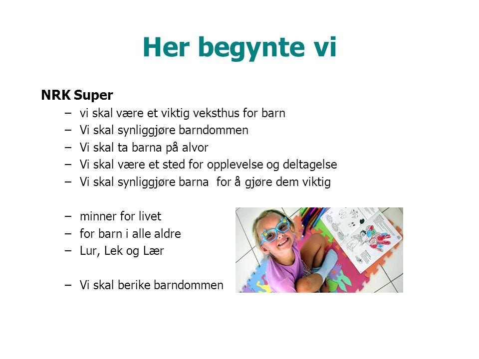 Her begynte vi NRK Super vi skal være et viktig veksthus for barn