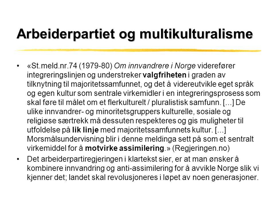 Arbeiderpartiet og multikulturalisme