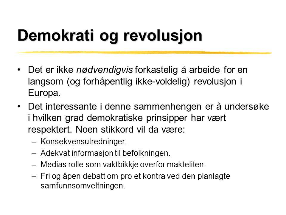 Demokrati og revolusjon