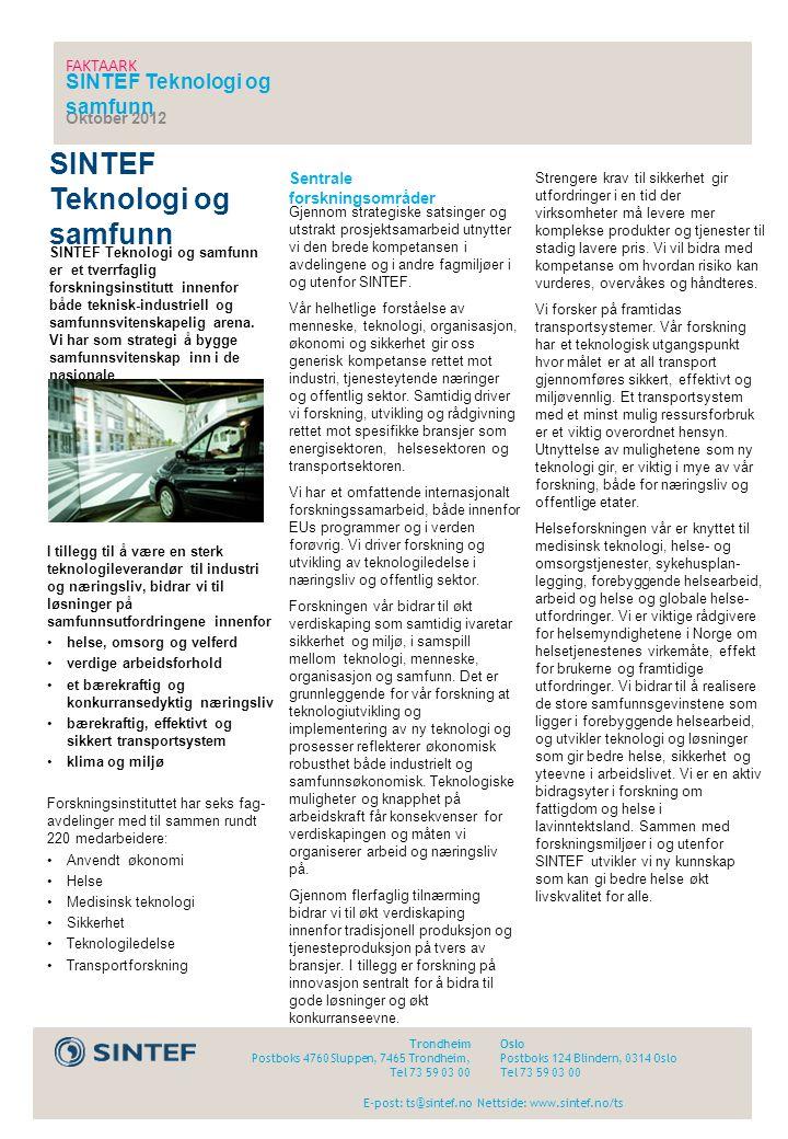 SINTEF Teknologi og samfunn