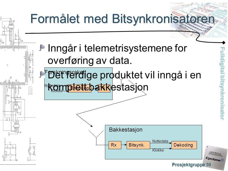 Formålet med Bitsynkronisatoren