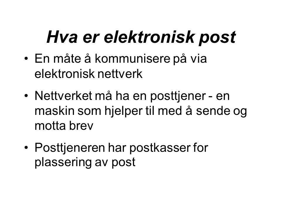 Hva er elektronisk post
