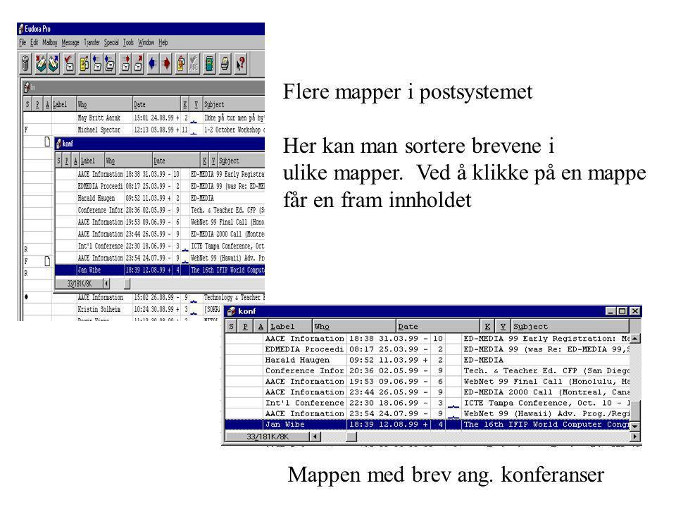 Flere mapper i postsystemet