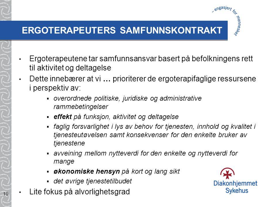 ERGOTERAPEUTERS SAMFUNNSKONTRAKT