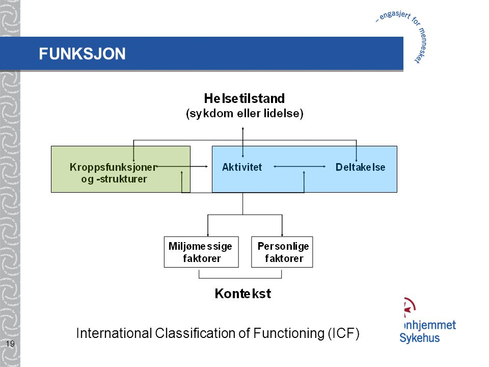 FUNKSJON International Classification of Functioning (ICF)