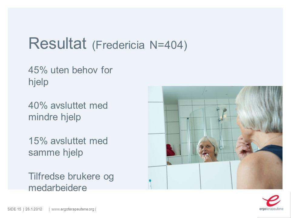 Resultat (Fredericia N=404)