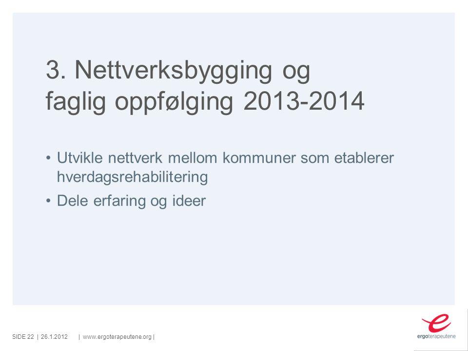 3. Nettverksbygging og faglig oppfølging 2013-2014