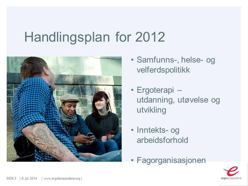 Handlingsplan for 2012 Samfunns-, helse- og velferdspolitikk