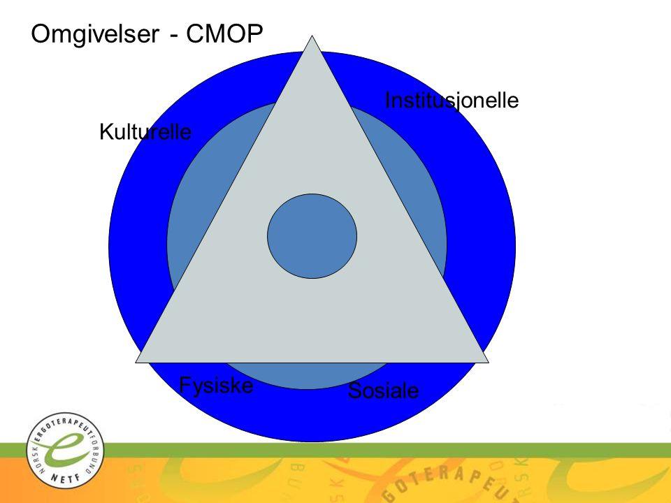 Omgivelser - CMOP Institusjonelle Kulturelle Fysiske Sosiale