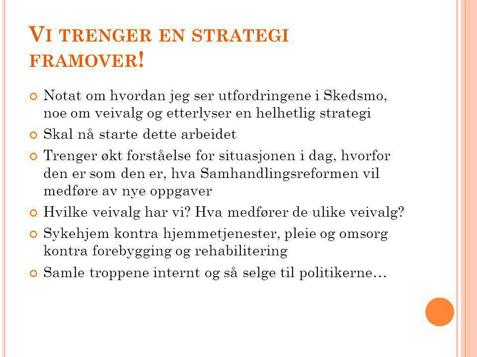 Vi trenger en strategi framover!