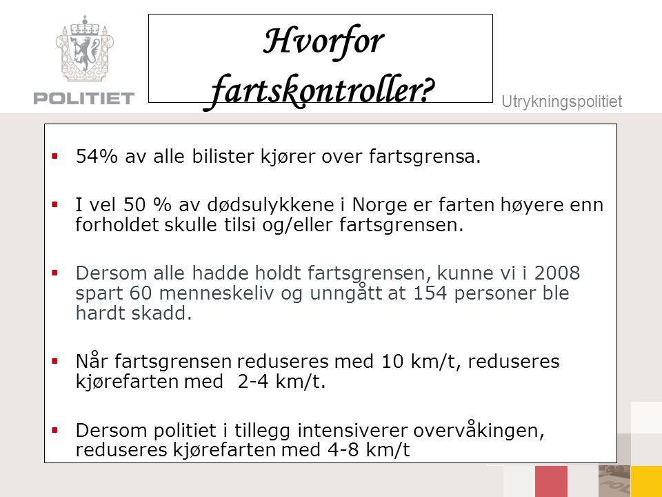 Hvorfor fartskontroller