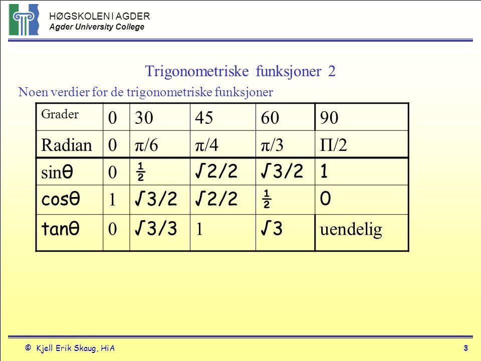 Trigonometriske funksjoner 2