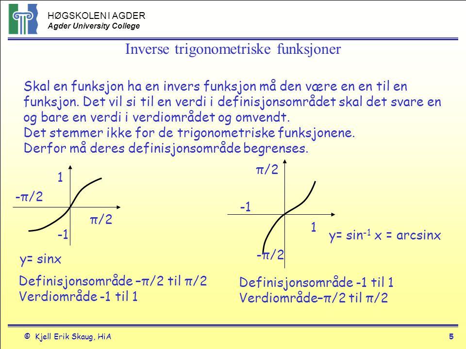 Inverse trigonometriske funksjoner