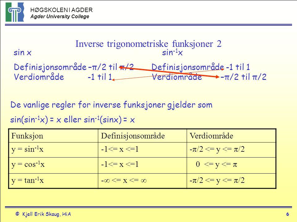 Inverse trigonometriske funksjoner 2
