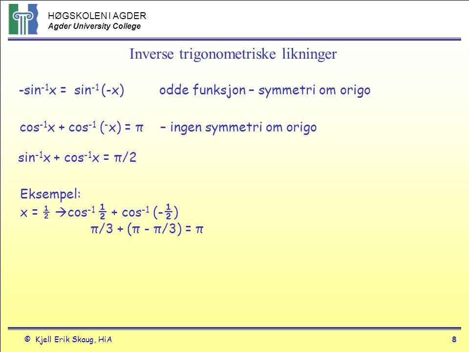 Inverse trigonometriske likninger