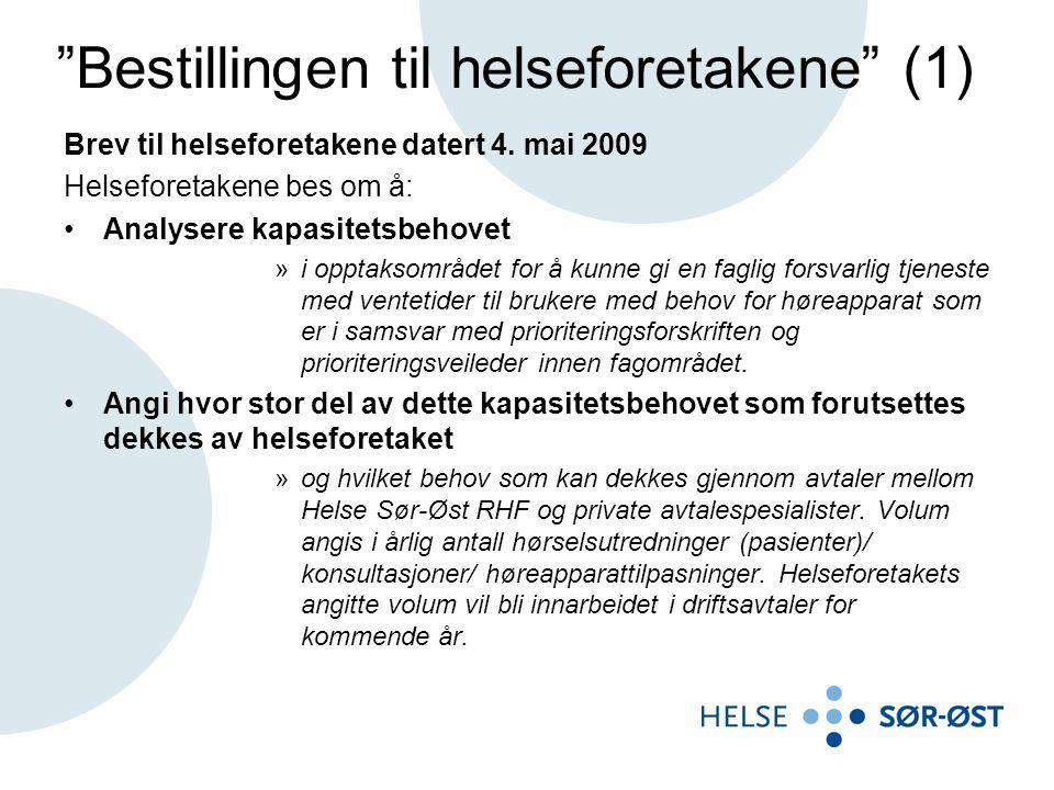 Bestillingen til helseforetakene (1)