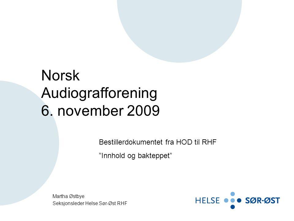 Norsk Audiografforening 6. november 2009