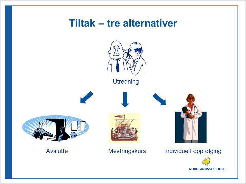Tiltak – tre alternativer