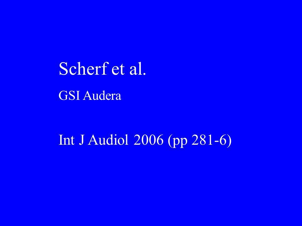 Scherf et al. GSI Audera Int J Audiol 2006 (pp 281-6)