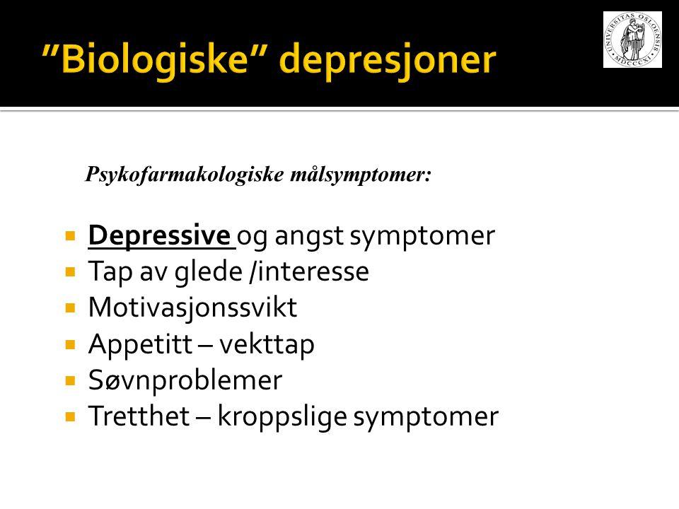 Biologiske depresjoner
