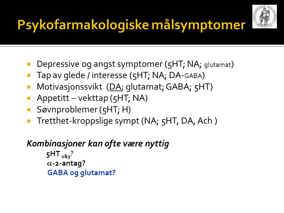Psykofarmakologiske målsymptomer