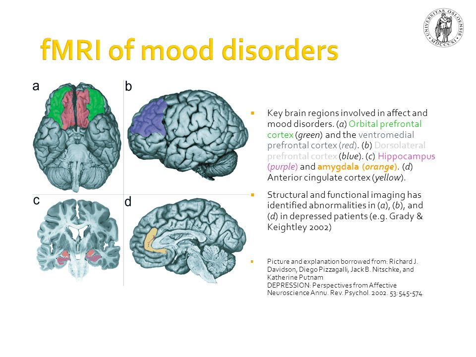 fMRI of mood disorders