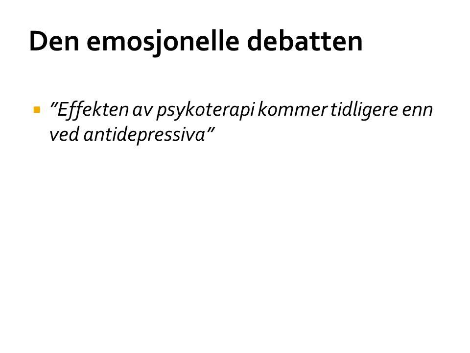 Den emosjonelle debatten
