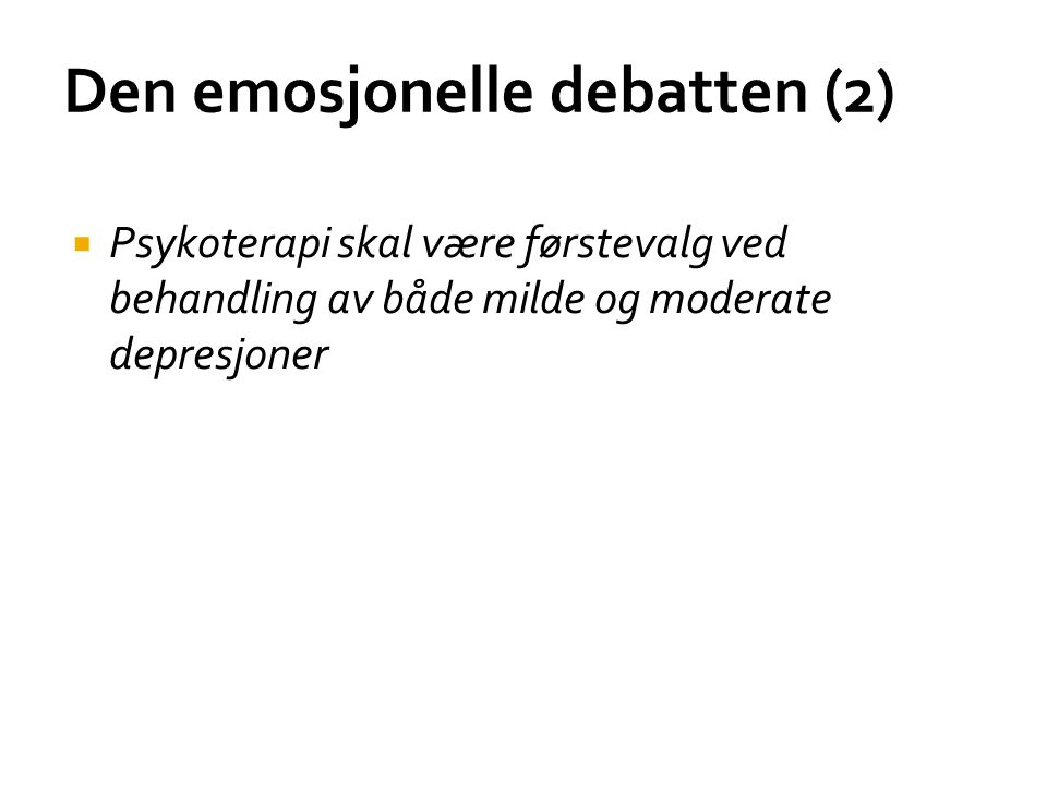 Den emosjonelle debatten (2)