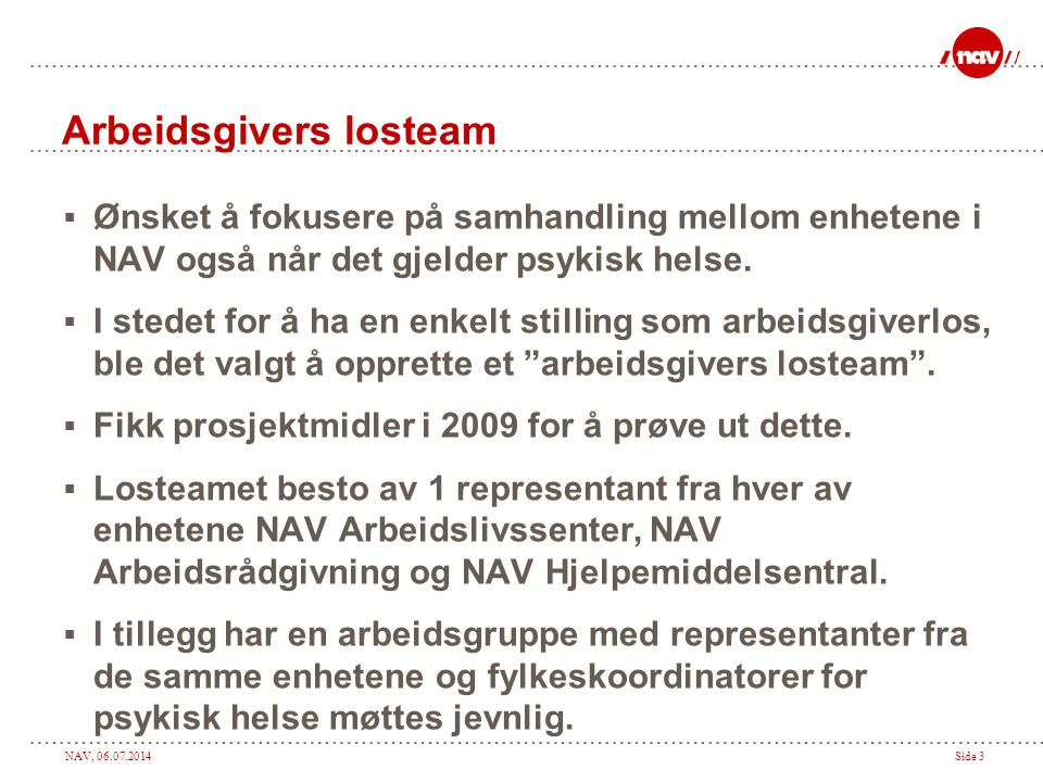 Arbeidsgivers losteam