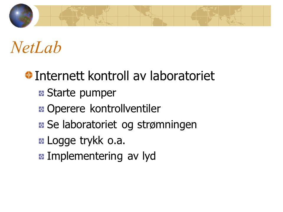 NetLab Internett kontroll av laboratoriet Starte pumper