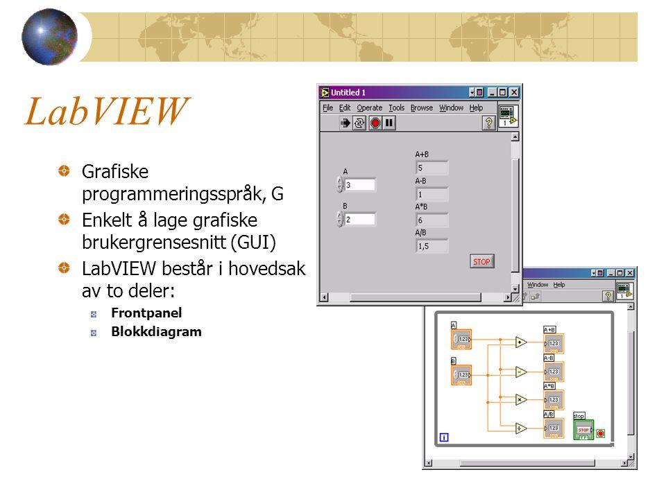 LabVIEW Grafiske programmeringsspråk, G