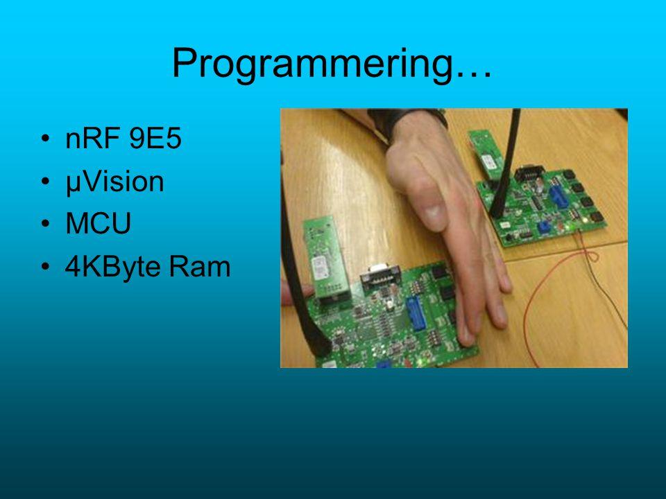 Programmering… nRF 9E5 µVision MCU 4KByte Ram