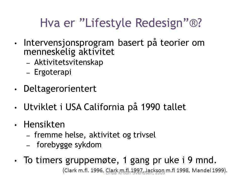 Hva er Lifestyle Redesign ®