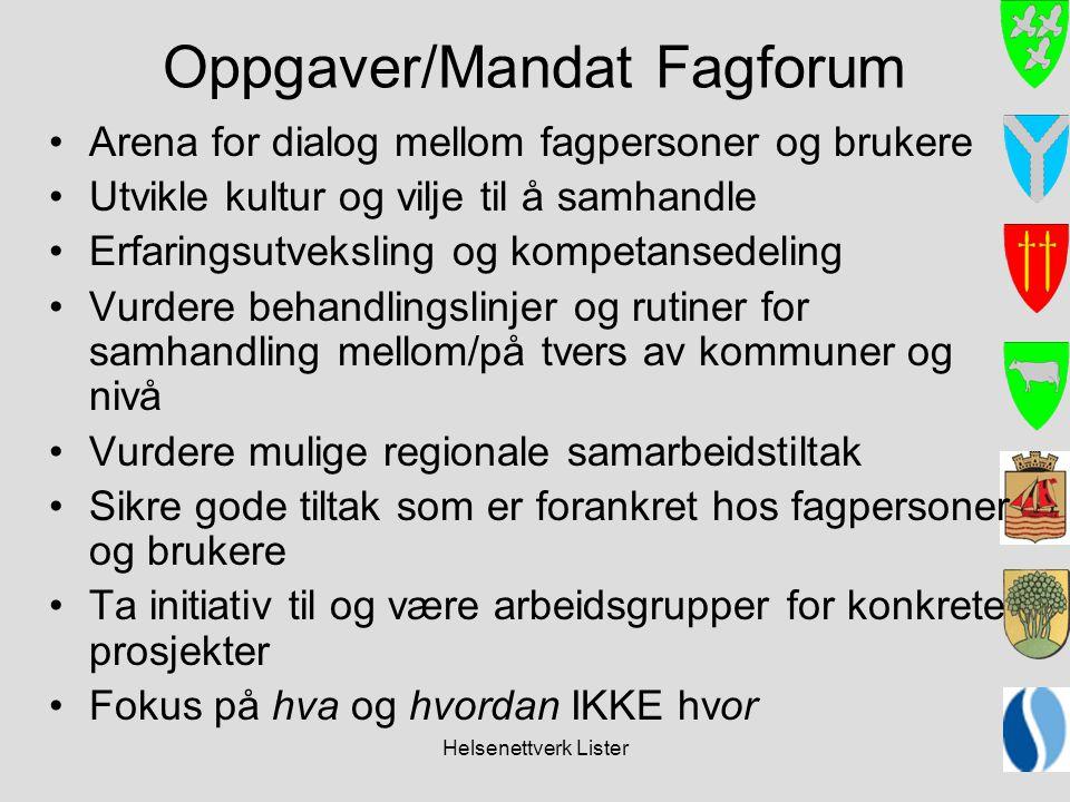 Oppgaver/Mandat Fagforum