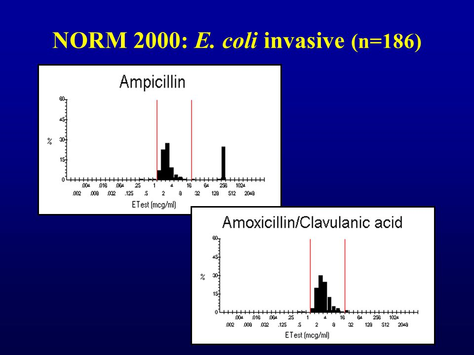 NORM 2000: E. coli invasive (n=186)